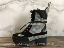 Louis Vuitton LV Laureate Platform Desert Boot Blue