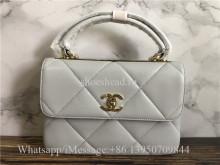 Original Quality Chanel 2019-20AW Chain Plain Leather Handbags