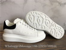 Super Quality Alexander McQueen Oversized Sneaker White Black Suede