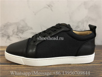 Christian Louboutin Flat Low Top Sneaker Black White
