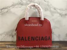 Original Balenciaga Ville Top Handle XXS Calfskin Bag Red
