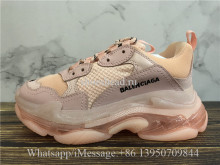 Balenciaga Triple S Clear Sole Trainer Pink