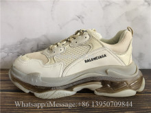 Balenciaga Triple S Clear Sole Trainer Champagne