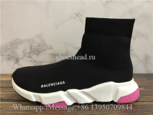 Balenciaga Speed Trainer Sock Black Rose Pink