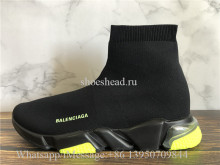 Balenciaga Speed Trainer Air Bubble Black Lemon Green