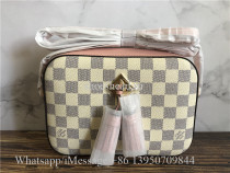 Original Louis Vuitton Unused Damier Azur Saintonge Pochette 2WAY Bag N40155