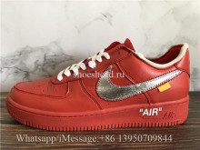Off White x Nike Air Force 1'07 Red