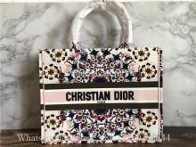 Christian Dior Book Tote Handbag Kaleidoscope Flower Print
