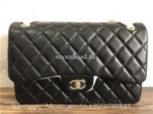 Original Quality Chanel Black Leather Shoulder Bag 30cm