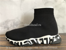 Balenciaga Speed Graffiti Trainers Black