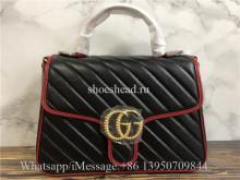 Original Gucci GG Marmont Matelassé Top Handle Bag