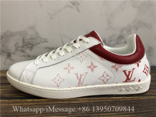 Louis Vuitton Low Top Sneaker Red Letter