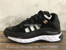 Chanel Cruise Low Top Sneaker Black Suede