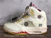 Off White X Air Jordan 5 Retro Yellow White