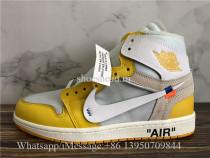 Off White x Air Jordan 1 Retro Yellow