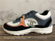 Chanel Low Top Sneaker Orange Black Grey