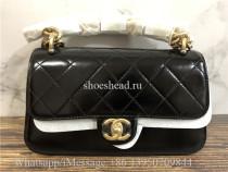 Original Quality Chanel Black Leather Crossbody Bag