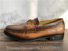 Super Quality Louis Vuitton Dress Brown Shoes Loafer