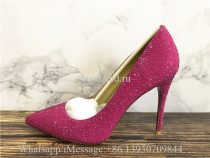 Christian Louboutin So Kate Glitter Rose Pink Heels Pumps