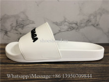 Balenciaga White Calfskin Slides