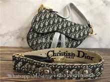 Original Quality Christian Dior Saddle Bag In Blue Dior Oblique