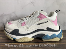 Balenciaga Triple S Trainer White Pink Blue