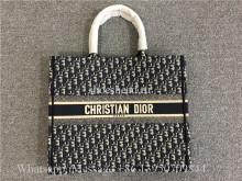 Original Dior Book Tote Blue Dior Oblique Embroidery Bag M1286