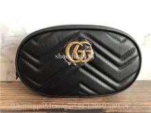 Original Gucci GG Marmont Matelassé Leather Belt Bag