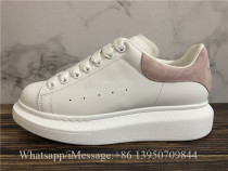 Super Quality Alexander McQueen Oversized Sneaker White Pink Suede