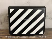 Off-White Black Diagonal Binder Clip Shoulder Bag