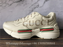 Super Quality Gucci Rhyton Vintage Gucci Logo Leather Sneaker