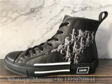 Super Quality Christian Dior B23 High Top Sneaker Black Dior Oblique