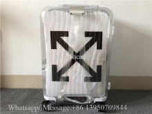 Luggage Rimowa x Off-white Transparent 21 inch Rolling Luggage Carry on Suitcase White