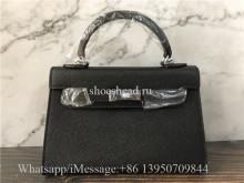 Hermès Black Pre-owned Kelly Mini Leather Mini Bag