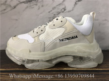 Balenciaga Triple S Clear Sole Trainer Cream White