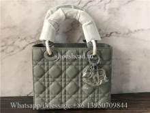 Original Quality Dior Lady Handbag Gray Lambskin