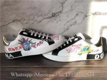 Dolce & Gabbana Portofino Sneakers In Printed Nappa Calfskin
