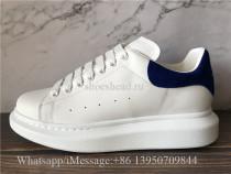Super Quality Alexander McQueen Sneaker White Blue Suede