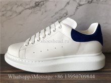 Super Quality Alexander McQueen Sneaker White Blue Suede