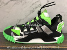 Dolce & Gabbana NS1 Slip-on Sneakers Black Green