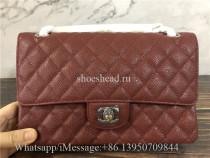 Original Quality Chanel Jumbo Caviar Double Flap Bag Wine Red 25cm
