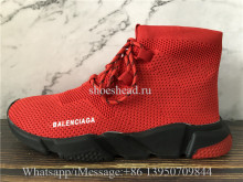 Balenciaga Speed Trainer Red Black Sole
