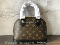 Original Louis Vuitton LV Monogram Alma Bridge BB handbag M53152