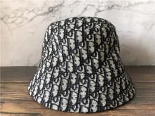 Reversible Teddy-D Dior Obilque Short Brim Bucket Hat Black Cotton