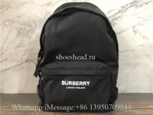 Original Burberry Logo Print Econyl Backpack Black