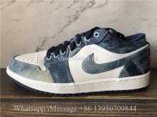 Air Jordan 1 Retro Low Washed Denim Blue