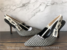 Christian Dior J'Adior Wool Houndstooth Pumps