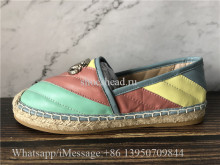 Gucci Pilar Leather Espadrilles Shoes