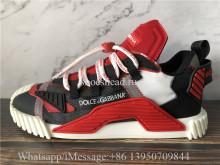 Dolce & Gabbana NS1 Slip-on Sneakers Black Red