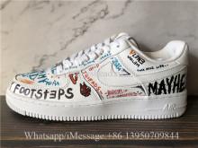Custom Vlone x Pauly x Nike Air Force 1 Low Mase White